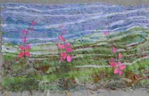 tableau-textile-fleurs