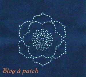 lotus brodé sashiko