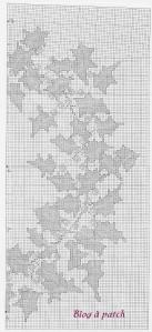 grille houx point de croix