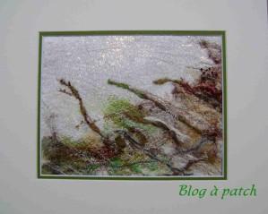 tableau textile Bord de mer