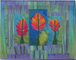 panneau textile contemporain