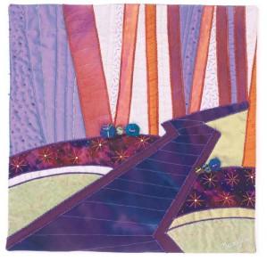 tableau textile paysage