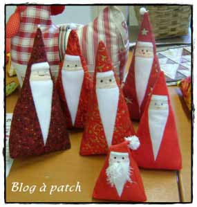 Tutos patchwork no l le blog de patchacha - Deco sapin de noel en tissu ...