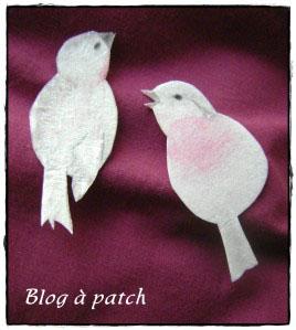 oiseaux en tissu