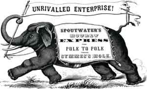 étiquette éléphant vintage