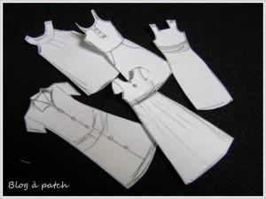 croquis modèles robes