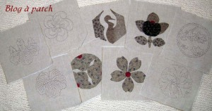 appliqués patchwork japonais
