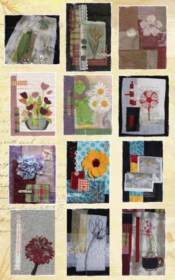 collages textiles