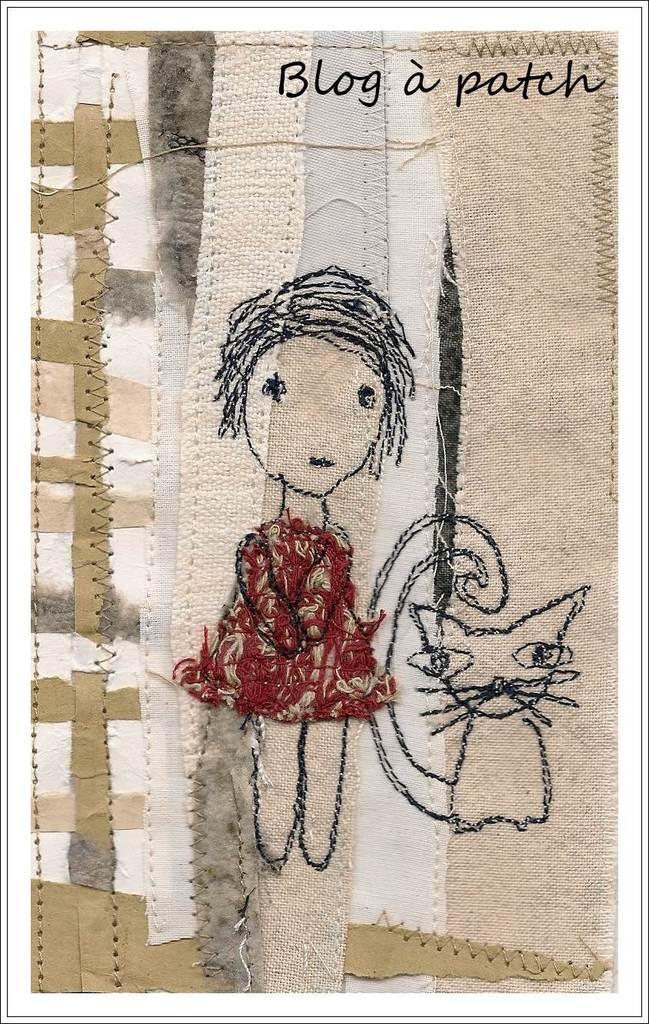 piqué-libre sur papier/textile