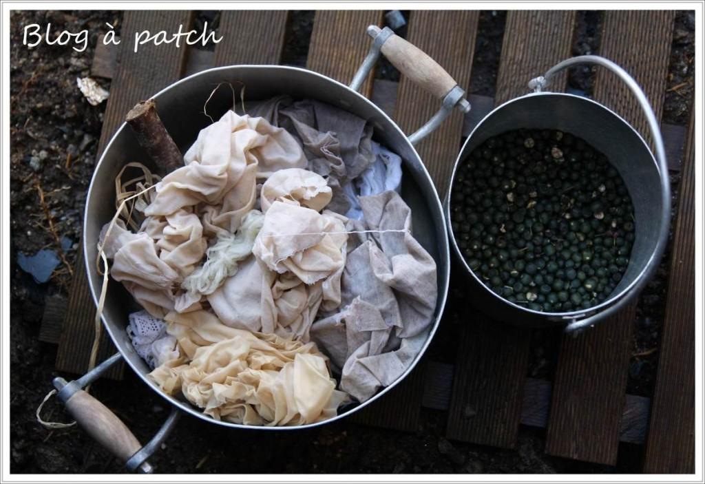 Teinture v g tale baies de lierre le blog de patchacha - Teinture tissus naturelle ...
