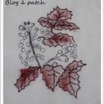 Série-feuilles 3 et laine brodée