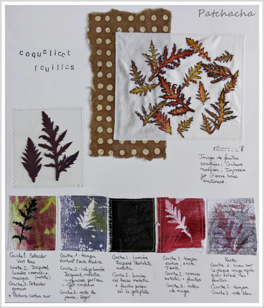 s rie feuilles 5 des transferts sur tissu le blog de patchacha. Black Bedroom Furniture Sets. Home Design Ideas
