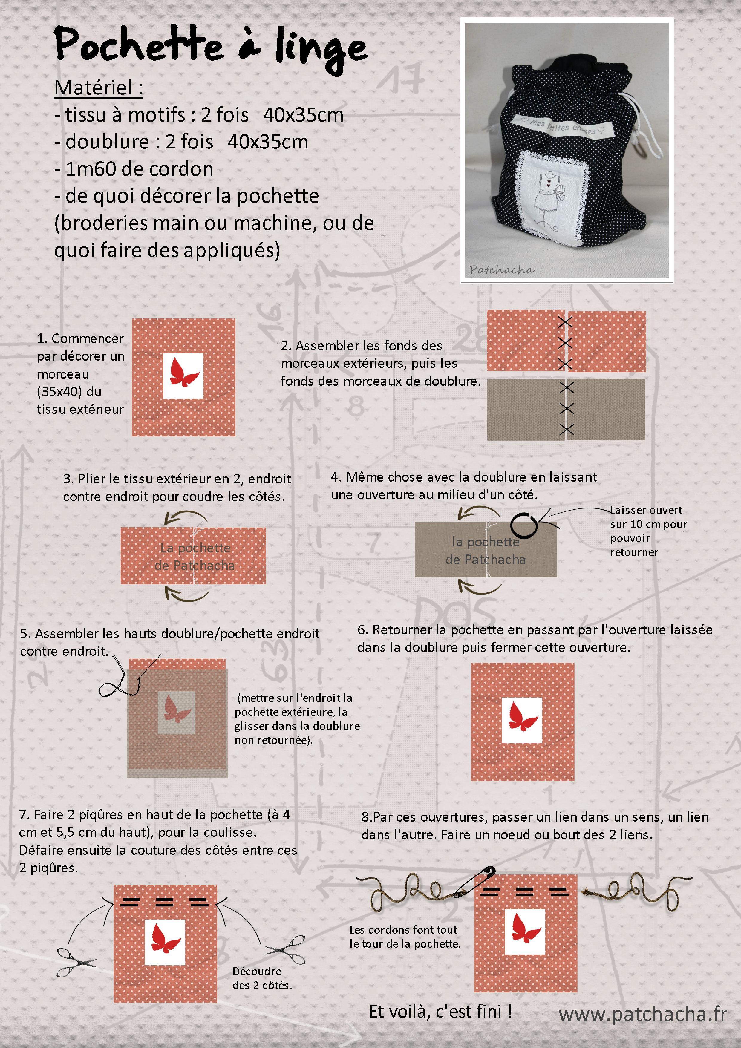 Assez Le truc utile du mois : une pochette - Le blog de Patchacha FH96