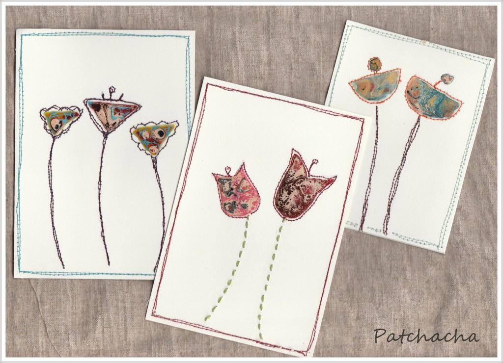 peinture fantasy et carte textile