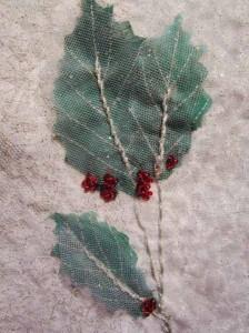 feuilles tulle et dentelles