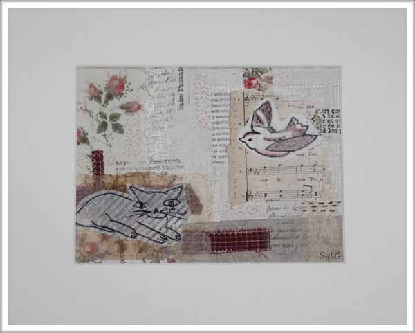 collage textile