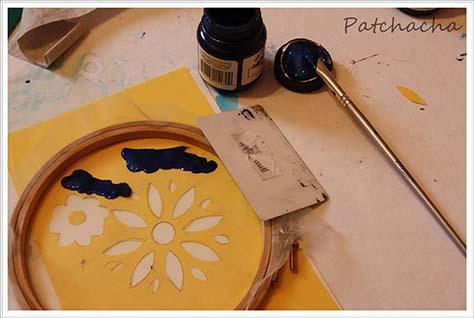 peinture textile et sérigraphie