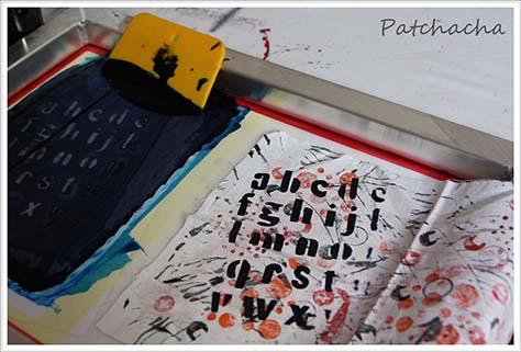 sérigraphie et art textile