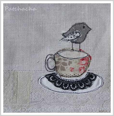 oiseau de tissu