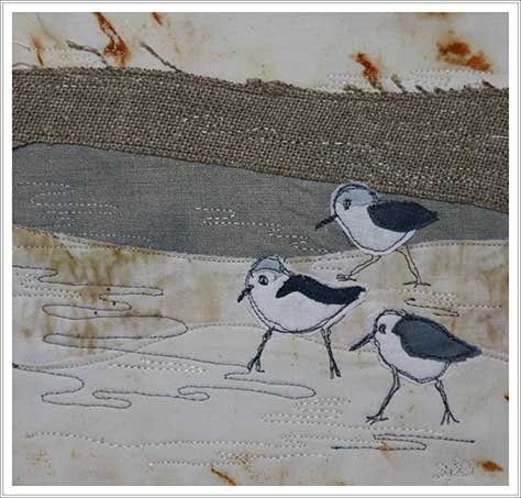 oiseaux sur tissu