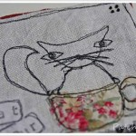 Tableau textile en 4 étapes