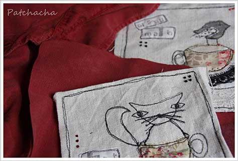 finition tableau textile