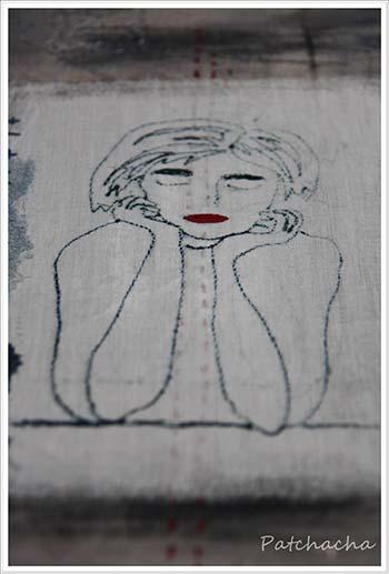 collagraphie et tissus peints