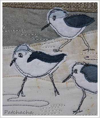 motif appliqué oiseaux