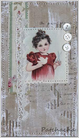 carte en carton et tissu