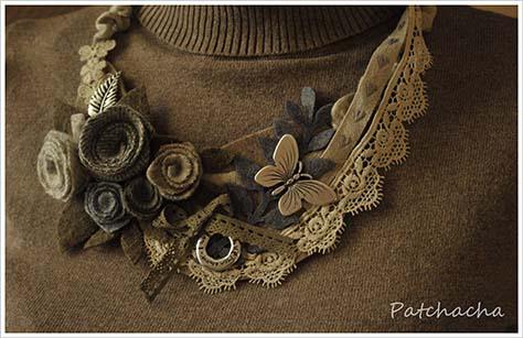 collier en laine