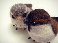 oiseau laine feutrée