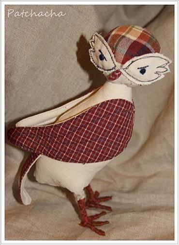 oiseau en tissu