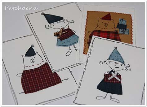 cartes postales textiles