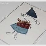 Cartes textiles pour Noël en 3 étapes