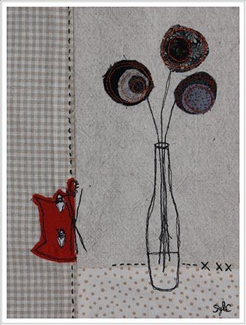 tableau textile facile