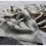 Eco-print 4 – avec des feuilles séchées