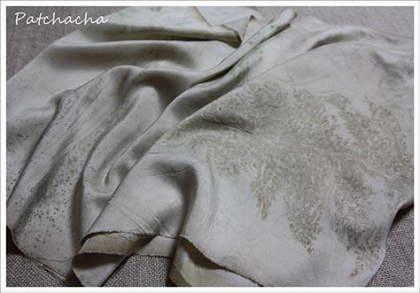 foulard soie eco print