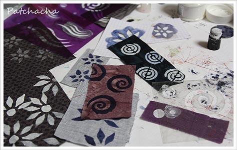 peindre ses tissus avec un pochoir textile