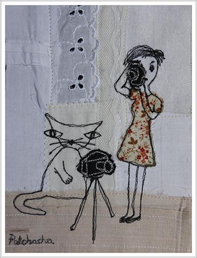 tableau textile - La photo