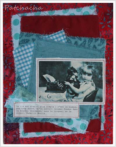 Tableau textile rentrée