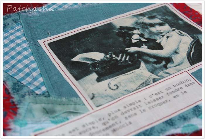 Collage textile septembre