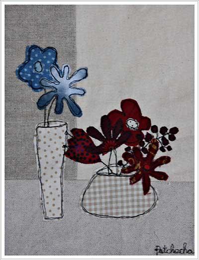 dessin bouquet naïf