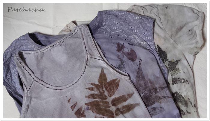 T-shirt ecoprint