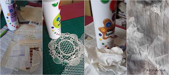 comment utiliser colles et gesso en art textile