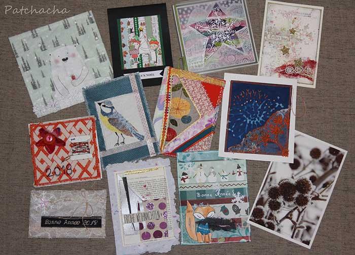 cartes de voeux textiles