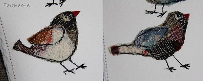 oiseaux en patchwork