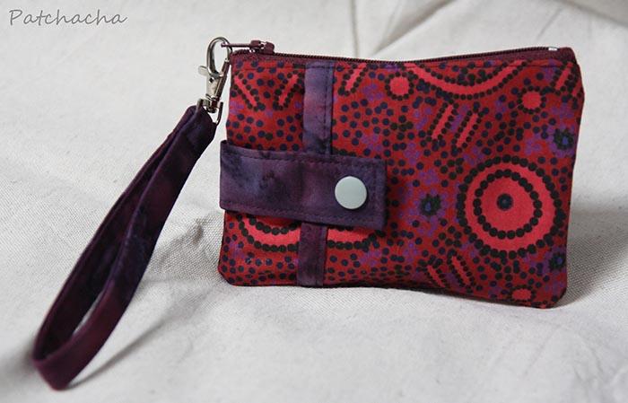 petite trousse en tissu aborigène