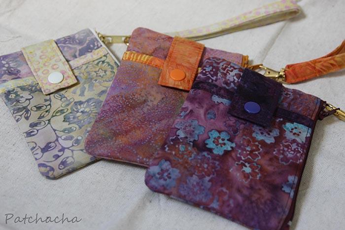 pochettes plates en tissu