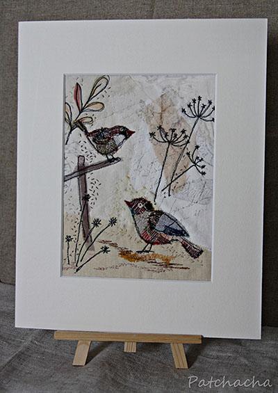 oiseaux appliqués