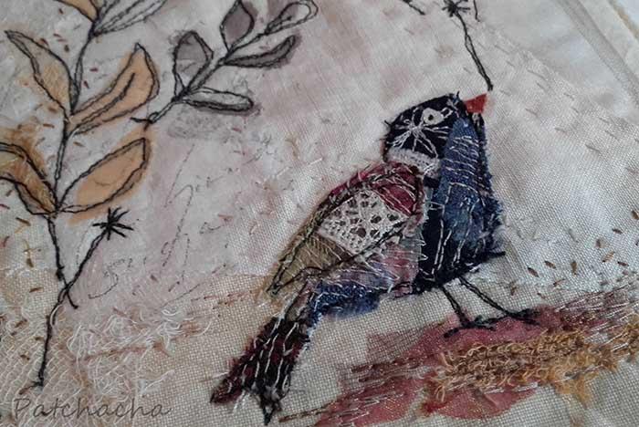 oiseaux en tissus